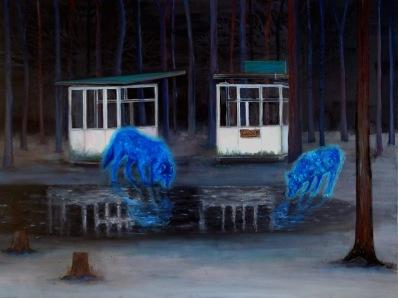 Close, huile sur toile,60x80 cm, 2013 (collection Fondation François Schneider)