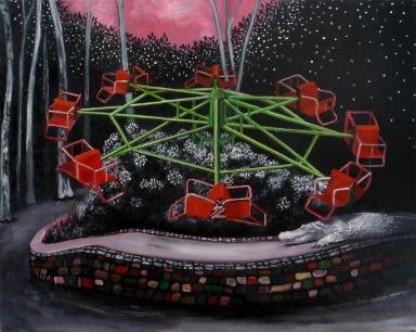 Dadipark, huile sur toile, 50x40 cm, 2012