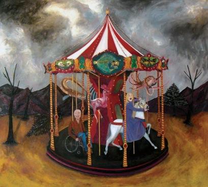 Le manège, huile sur toile, 220x200 cm, 2009