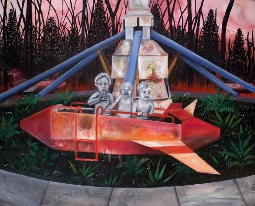 Le vaisseau, huile sur toile, 50x40 cm, 2012
