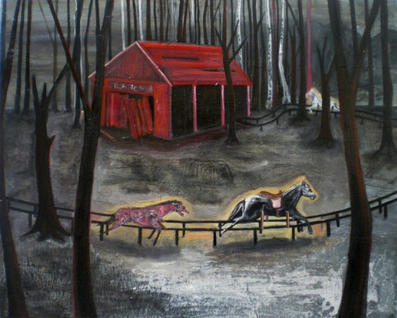 Le ranch, huile sur toile, 60x80 cm, 2009 (collection privée)