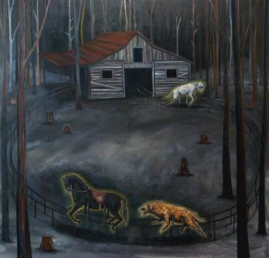 RANCH 4, huile sur toile, 179x179 cm, 2013