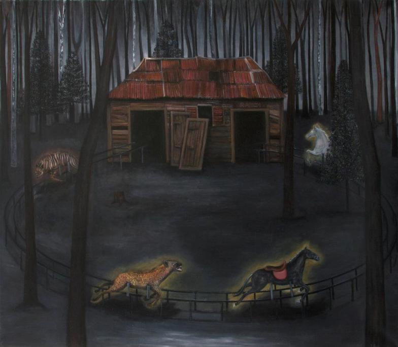 Ranch n°2, huile sur toile, 150x130 cm, 2011 (collection privée)