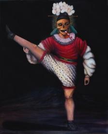 Saltimbanque 1, huile sur toile, 100x80 cm, 2014