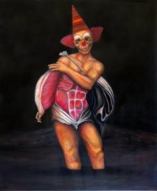 Saltimbanque 3, huile sur toile, 100x80 cm, 2014