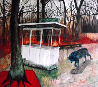 Treptower park, acrylique sur toile, 115x136 cm, 2008 (collection privée)