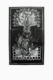 Fétiche, linogravure, 50x32,5 cm, 2012 (10 exemplaires)