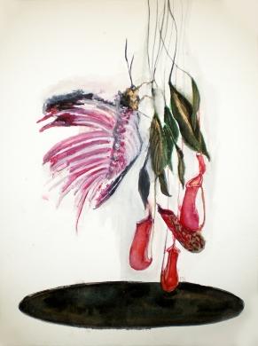 Les Nouveaux êtres, aquarelle et encre sur papier, 40x30 cm, 2010 (collection privée)