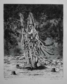 Noz I, aquatinte et pointe sèche, 48x38 cm, 2017 (dix exemplaires)