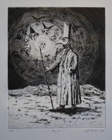 Noz II, aquatinte et pointe sèche, 48x38 cm, 2017 (dix exemplaires)