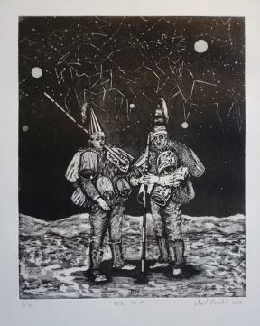 Noz IV, aquatinte et pointe sèche, 48x38 cm, 2017 (dix exemplaires)