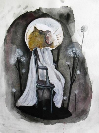Opera, techniques mixtes sur papier, 40x30 cm, 2011(collection privée)