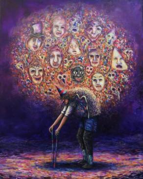Le poids de l'inconscience, huile sur toile, 92x73 cm, 2017
