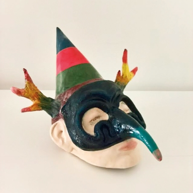mascarade II, céramique, 2017