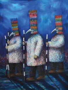 Mondfänger 3, huile sur toile, 200x150 cm, 2016