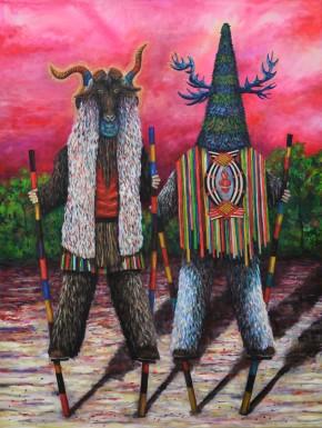 Mondfänger 4, oil on canvas, 200x150 cm, 2016