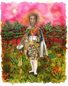 Le sacrement, encre, aquarelle et collage sur papier, 30x24 cm, 2018