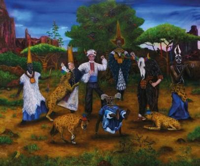 Acta est Fabula II, huile sur toile, 100x120 cm, 2015 (collection privée)