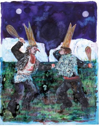 la baston, encre et aquarelle sur papier, 30x24 cm, 2015