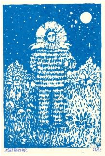 Maël Nozahic, Fusion I, sérigraphie sur papier, A6, 2016 (22 exemplaires)