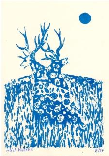 Maël Nozahic, Fusion II, sérigraphie sur papier, A6, 2016 (27 exemplaires)