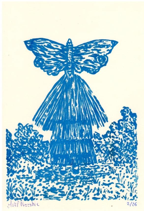 Maël Nozahic, Fusion III, sérigraphie sur papier, A6, 2016 (26 exemplaires)