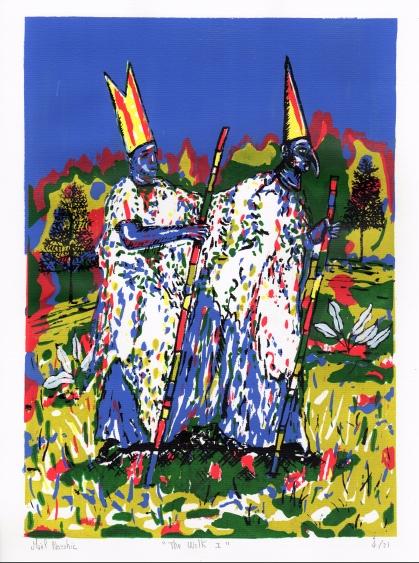 The walk I, sérigraphie en six couleurs, 40x30 cm, 2016 (21 exemplaires)