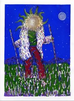 The Walk III, sérigraphie en six couleurs, peinture aérosol et tampon, 40x30 cm, 2016 (19 exemplaires)