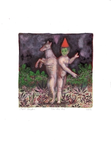 Cha Cha Cha, encre et aquarelle sur papier, 30x24 cm, 2015 (collection privée)