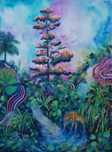 La source, huile sur toile, 100x80 cm, 2010