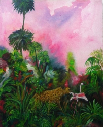 Jungle Dream, huile sur toile, 50x40 cm, 2018