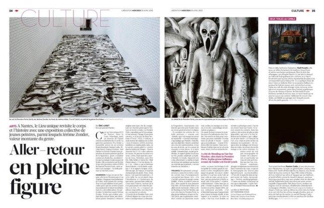 Libération (pages culture du 25 avril 2012), article d'Éric Loret